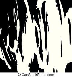 スタイル, パターン, 抽象的, あなたの, 黒, デザイン, 落書き, 白