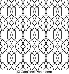 スタイル, パターン, -, seamless, 変化, イスラム教, 2