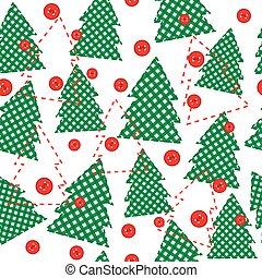 スタイル, パッチワーク, 包装紙, テンプレート, クリスマス
