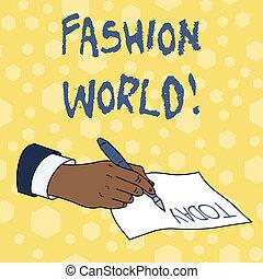 スタイル, ファッション, ビジネス, 写真, 提示, 執筆, メモ, appearance., showcasing, 世界, 衣類, ∥巻き込む∥, world.