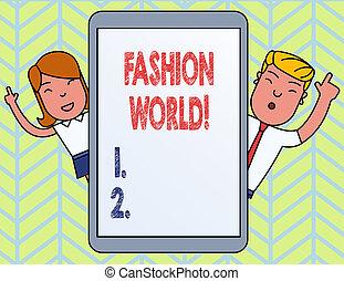 スタイル, ファッション, 単語, ビジネス, テキスト, 執筆, 概念, appearance., 世界, 衣類, ∥巻き込む∥, world.