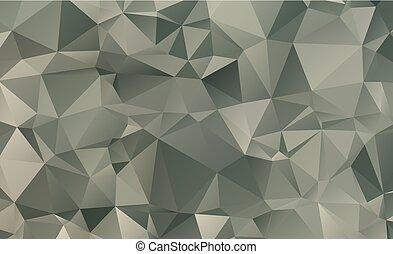 スタイル, 三角形, 勾配, 暗い, ベクトル, 背景, origami, 幾何学的, blurry, design.