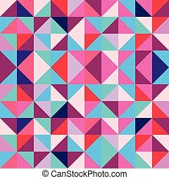 スタイル, 三角形, 芸術, 抽象的, seamless, パターン, 多彩, ポンとはじけなさい, 幾何学的