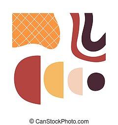 スタイル, 仕事, 現代, 織物, アイコン, 芸術