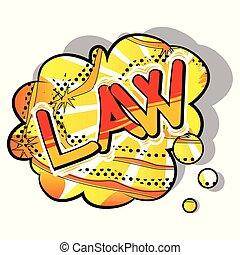 スタイル, -, 例証された, ベクトル, phrase., 漫画, 法律書