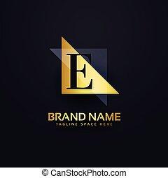 スタイル, 優れた, 現代, デザイン, 手紙, ロゴ, e