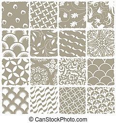 スタイル, 利用できる, すべて, 変化, palette., set., seamless, eps, パターン, ベクトル, 8, swatch
