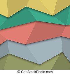 スタイル, -, 創造的, デザイン, テンプレート, origami