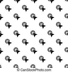 スタイル, 単純である, パターン, カーソル, コンピュータ, 矢