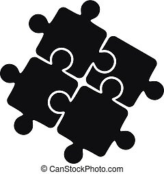 スタイル, 単純である, 困惑, 解決, チームワーク, アイコン