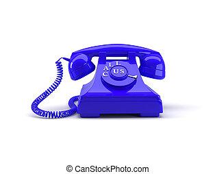 スタイル, 古い, 電話, レンダリング, 私達, 言葉, 呼出し, 3D