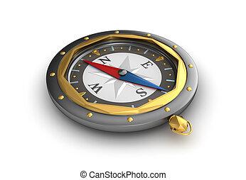 スタイル, 古い, compass.