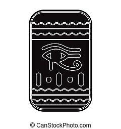 スタイル, 古代, 目, illustration., horus, エジプト, シンボル, 隔離された, ...