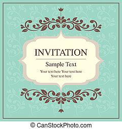 スタイル, 型, カード, 招待