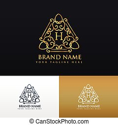 スタイル, 型, ブランド, デザイン, 贅沢, ロゴ