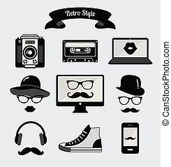 スタイル, 型, 情報通, レトロ, 媒体