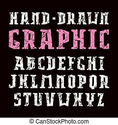 スタイル, 壷, ハンドメイド, serif, グラフィックス
