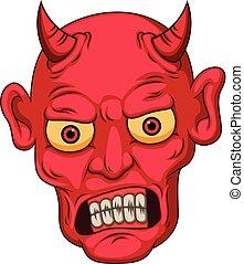 スタイル, 悪魔, 漫画, 赤ら顔