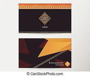 スタイル, 抽象的, 創造的, デザイン, テンプレート, タイ人, カード