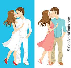 スタイル, 接吻, 恋人