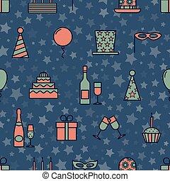 スタイル, 星, カラフルである, アイコン, 型, seamless, 手ざわり, バックグラウンド。, ベクトル, デザイン, パーティー, 漫画