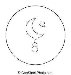 スタイル, 星, illustration., アイコン, バックグラウンド。, シンボル, 隔離された, 宗教,...