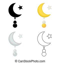 スタイル, 星, illustration., バックグラウンド。, シンボル, 隔離された, 宗教, ベクトル,...