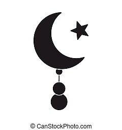スタイル, 星, illustration., バックグラウンド。, シンボル, 隔離された, 宗教, ベクトル, 黒,...