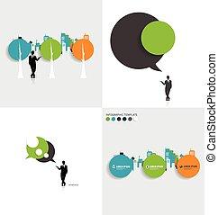 スタイル, 現代, テンプレート, infographics