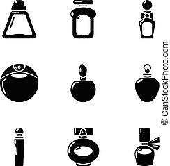 スタイル, 美しさ, アイコン, セット, 単純である, 待遇