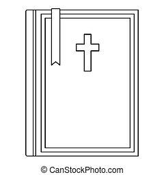 スタイル, 聖書, アウトライン, アイコン
