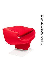 スタイル, 肘掛け椅子, 現代, 背景, 白い赤
