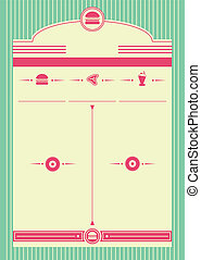 スタイル, 背景, 1950s, フレーム, 食事客