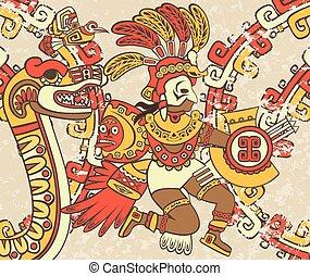 スタイル, 背景, aztec