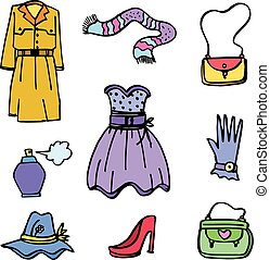スタイル, 衣服, コレクション, 女性