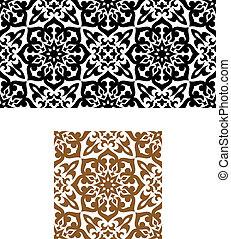 スタイル, 装飾, seamless, アラビア, レトロ