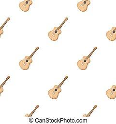 スタイル, 道具, 隔離された, イラスト, 漫画, ギター, バックグラウンド。, ベクトル, パターン, 音響, 白, アイコン, ミュージカル, 株