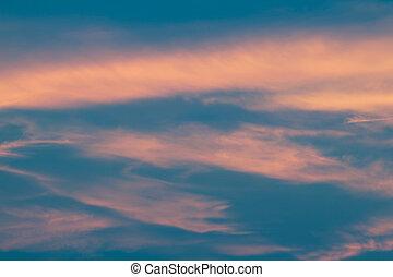 スタイル, 雲, 型, skyscape