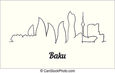 スタイル, baku, スケッチ, イラスト, 1(人・つ), バックグラウンド。, 線, 白