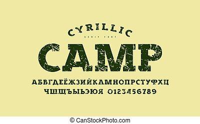 スタイル, cyrillic, クラシック, serif, 壷, 厚板