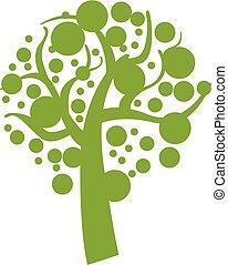 スタイル, eco, 木, 単純である, 緑, アイコン