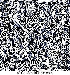 スタイル, hand-drawn, 主題, 音楽, doodles, 漫画, 主題
