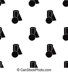 スタイル, illustration., 芸術家, パターン, バケツ, 隔離された, 図画, バックグラウンド。, ベクトル, 黒, 白, アイコン, ペンキ, ペイントブラシ, 株