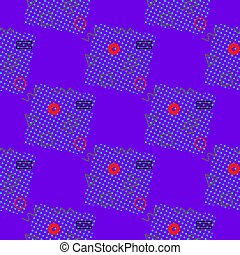 スタイル, pattern., seamless, ベクトル, 幾何学的, メンフィス