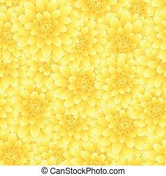 スタイル, seamless, 黄色, 2, 背景, ダリア