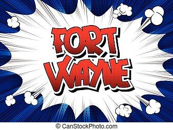 スタイル, word., -, ウェイン, 漫画本, 城砦