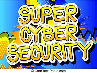 スタイル, word., -, cyber, 本, セキュリティー, 極度, 漫画