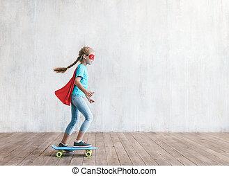 スタジオ, わずかしか, 英雄, skatboard