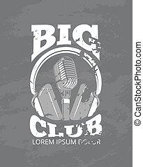 スタジオ, ヘッドホン, クラブ, レコード, ベクトル, 音楽, ロゴ, オーディオ, カラオケ, マイクロフォン