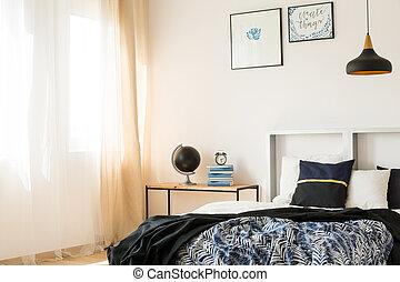スタジオ, ベッド, すてきである